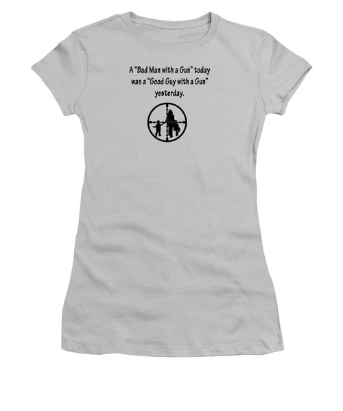 Bad Man With A Gun Women's T-Shirt (Athletic Fit)