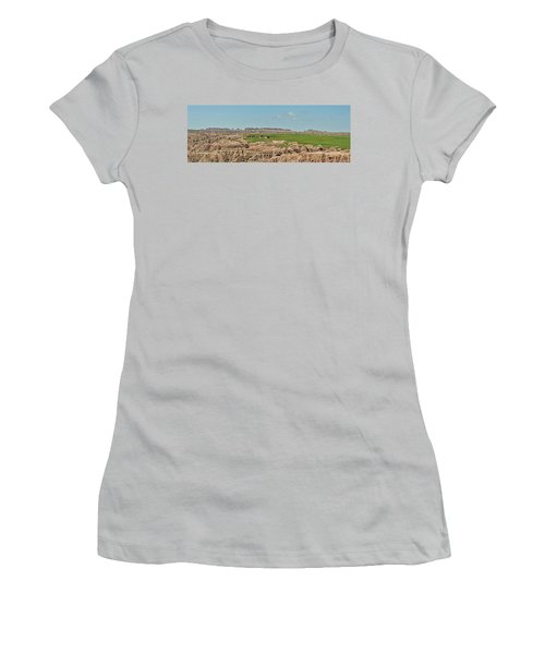 Badlands Panorama Women's T-Shirt (Junior Cut) by Nancy Landry