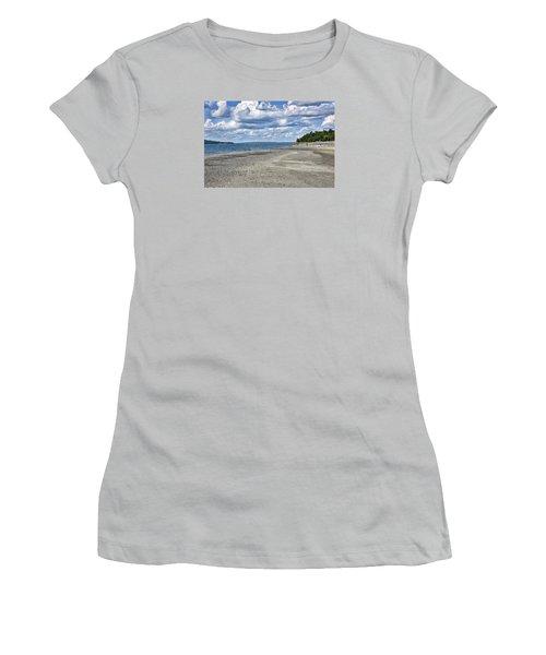 Bar Harbor - Land Bridge To Bar Island - Maine Women's T-Shirt (Junior Cut) by Brendan Reals