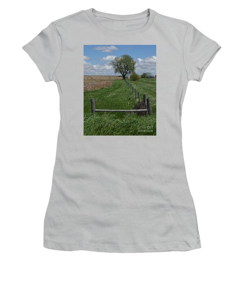 Barbed Wire Fence Line Women's T-Shirt (Athletic Fit)