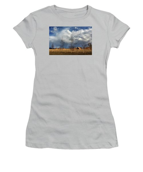 Women's T-Shirt (Junior Cut) featuring the photograph Barn Storm by James Eddy