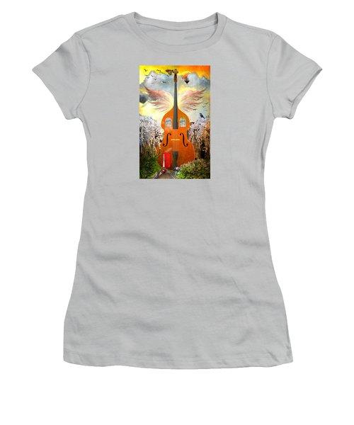 Basic Housing Women's T-Shirt (Junior Cut) by Ally  White