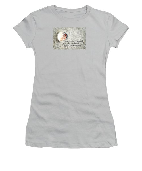 Beach Art - Lucky Enough - Sharon Cummings Women's T-Shirt (Junior Cut) by Sharon Cummings