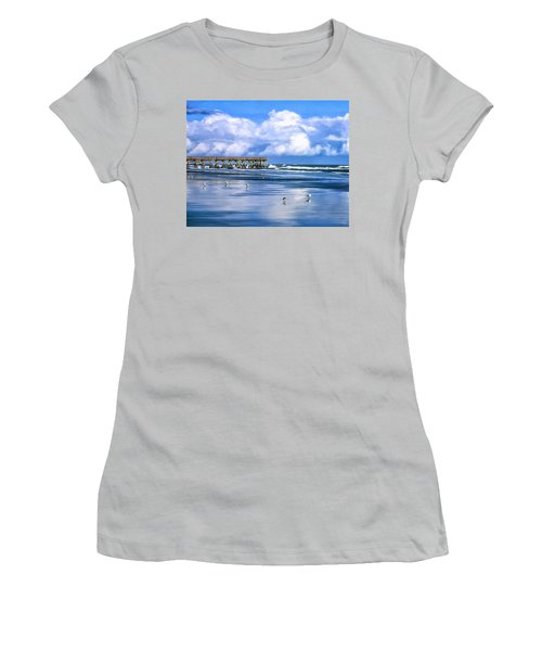 Beach At Isle Of Palms Women's T-Shirt (Junior Cut) by Dominic Piperata