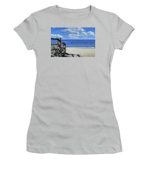 Beach Fence Women's T-Shirt (Athletic Fit)