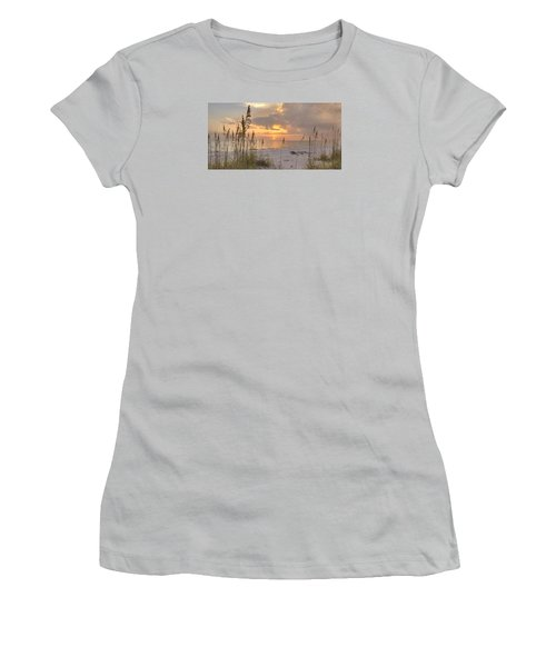 Beach Grass Sunset Women's T-Shirt (Junior Cut) by Sean Allen