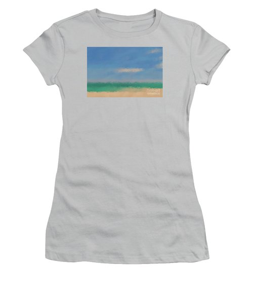 Beach Scene 6. Modern Decor Collection Women's T-Shirt (Junior Cut) by Mark Lawrence