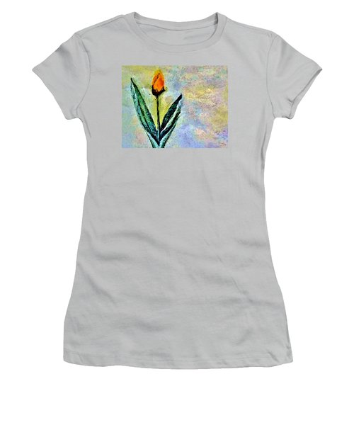 Women's T-Shirt (Junior Cut) featuring the painting Being Single by Lisa Kaiser