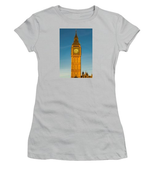 Big Ben Tower Golden Hour London Women's T-Shirt (Athletic Fit)