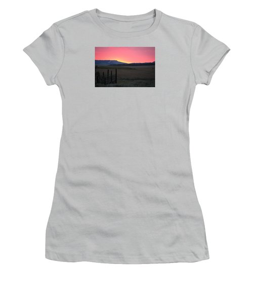 Big Horn Sunrise Women's T-Shirt (Junior Cut) by Diane Bohna