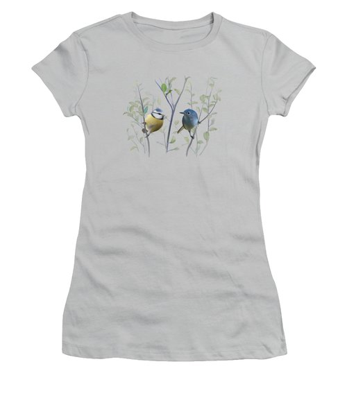 Birds In Tree Women's T-Shirt (Athletic Fit)