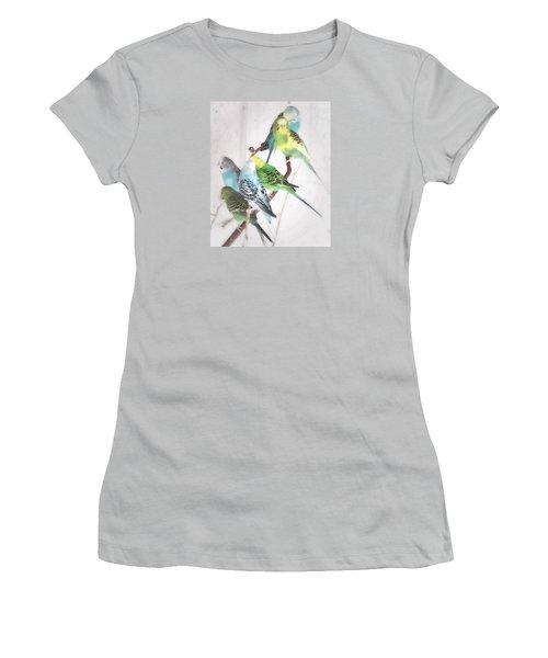 Women's T-Shirt (Junior Cut) featuring the photograph Birds Of A Feather by Robin Regan