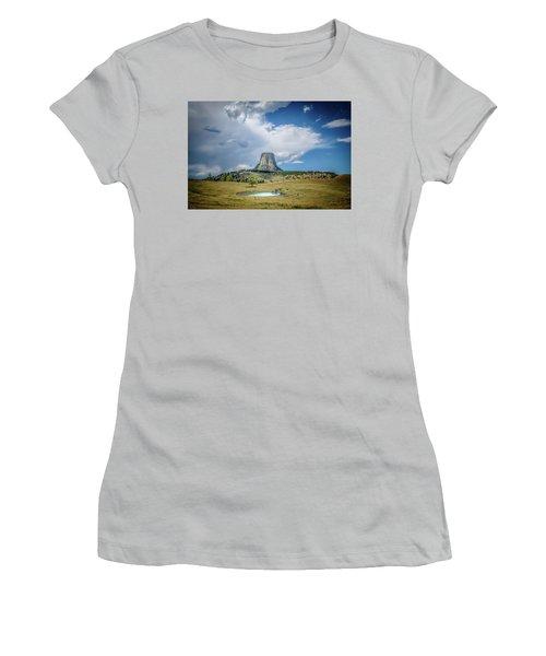 Bison Pond Women's T-Shirt (Junior Cut) by Mark Dunton