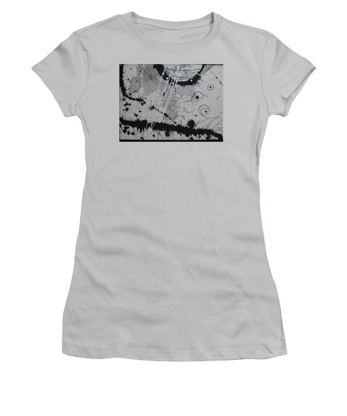 Black And White Four Women's T-Shirt (Junior Cut) by Tracy Bonin