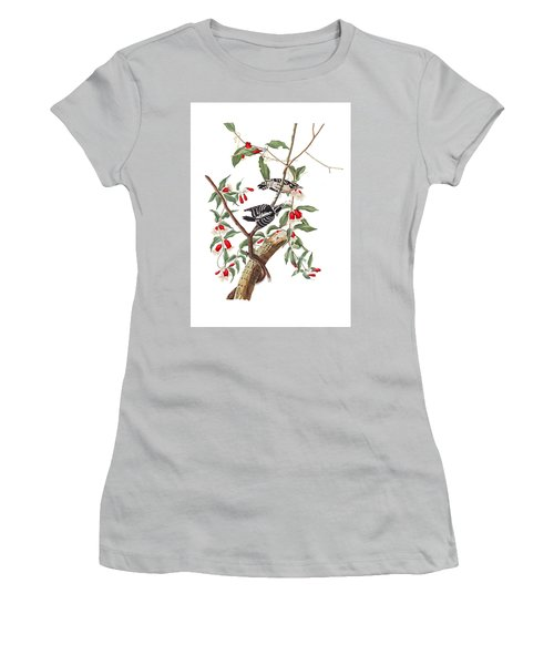 Women's T-Shirt (Junior Cut) featuring the photograph Black And White by Munir Alawi