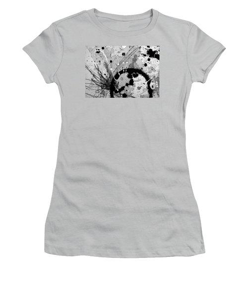 Black And White Three Women's T-Shirt (Junior Cut) by Tracy Bonin