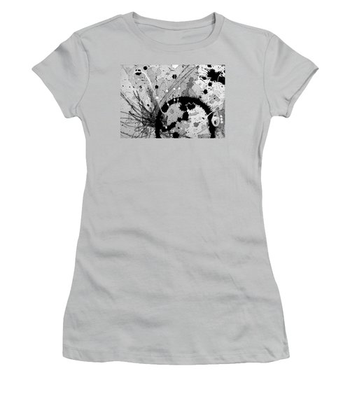 Black And White Three Women's T-Shirt (Athletic Fit)