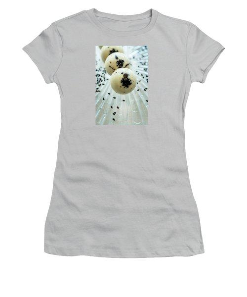 Women's T-Shirt (Junior Cut) featuring the photograph Black Sesame Chocolate by Sabine Edrissi
