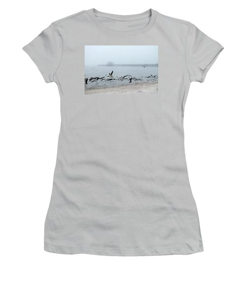 Black Skimmers - Biloxi Mississippi Women's T-Shirt (Athletic Fit)