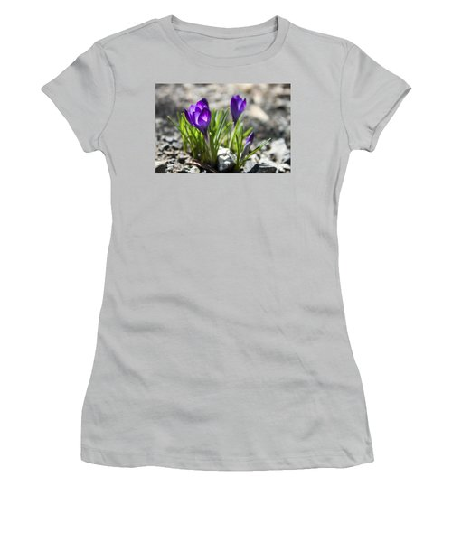 Blooming Crocus #1 Women's T-Shirt (Athletic Fit)