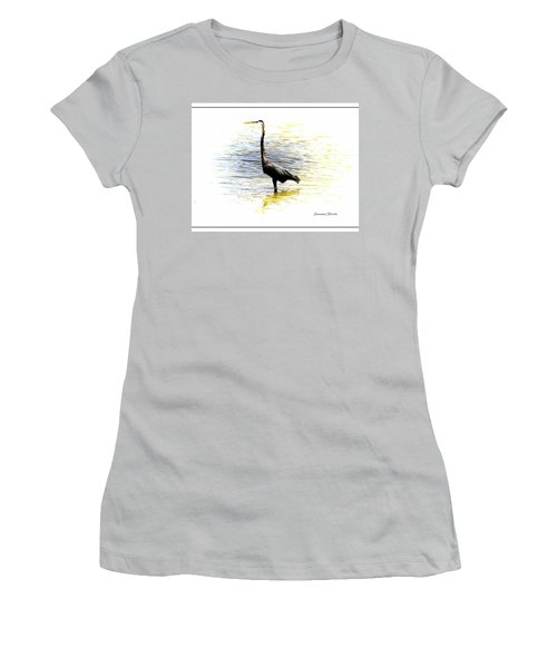 Blue Heron Women's T-Shirt (Athletic Fit)