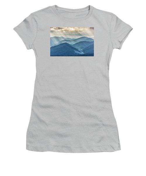 Blue Ridge Sunset Rays Women's T-Shirt (Athletic Fit)