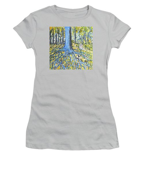 Blue Roots Women's T-Shirt (Athletic Fit)