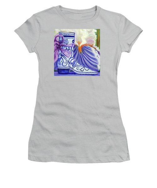 Blue Shoe, Painting Of A Painting Women's T-Shirt (Athletic Fit)
