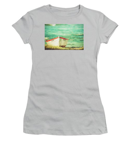Boat On The Shore Women's T-Shirt (Athletic Fit)