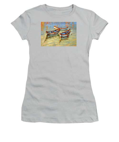 Boats In The Sunset Women's T-Shirt (Athletic Fit)