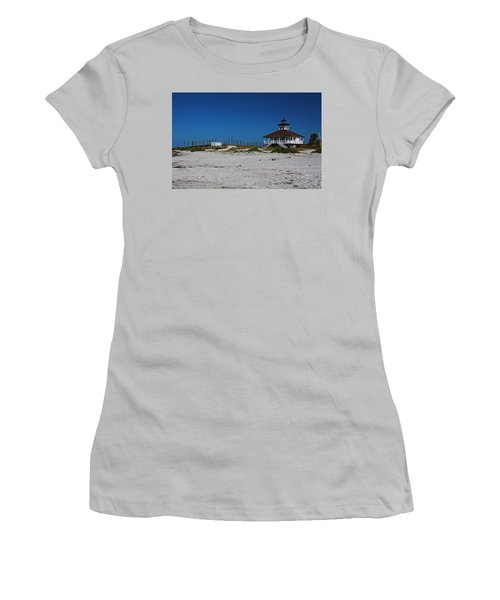Women's T-Shirt (Athletic Fit) featuring the photograph Boca Grande Lighthouse Ix by Michiale Schneider