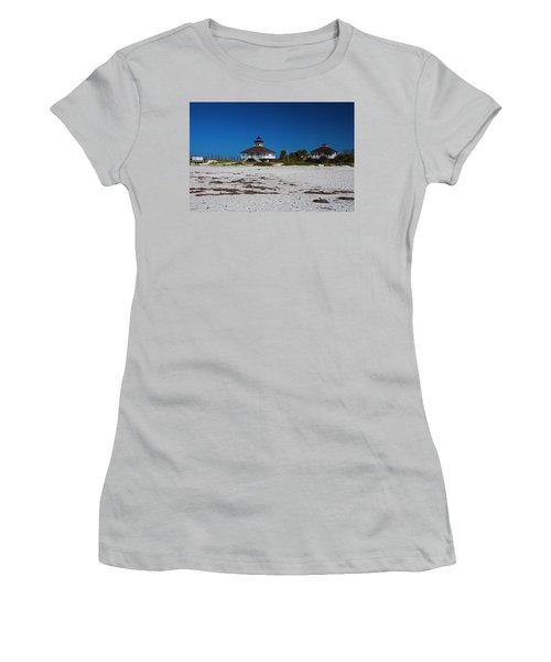 Women's T-Shirt (Athletic Fit) featuring the photograph Boca Grande Lighthouse X by Michiale Schneider