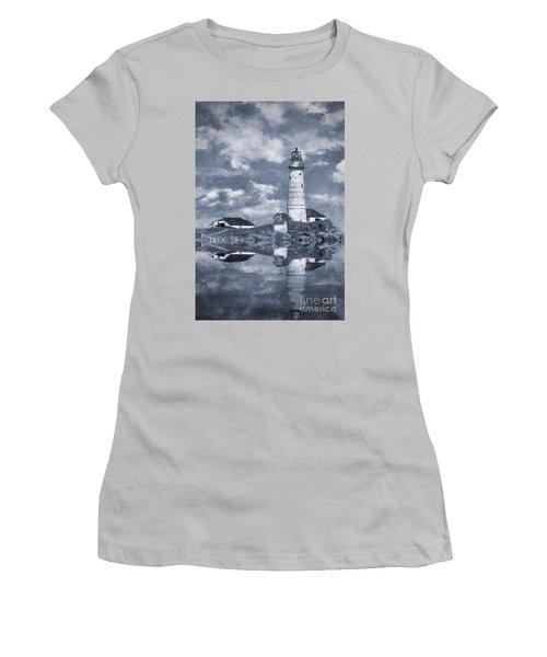 Women's T-Shirt (Junior Cut) featuring the photograph Boston Light  by Ian Mitchell