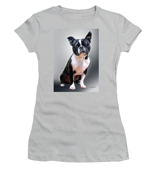 Boston Terrier By Spano Women's T-Shirt (Junior Cut) by Michael Spano