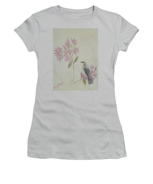 Bougainvillea And Mockingbird Women's T-Shirt (Athletic Fit)
