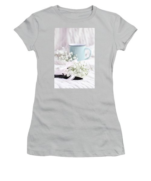Women's T-Shirt (Junior Cut) featuring the photograph Bouquet Of Baby's Breath by Stephanie Frey