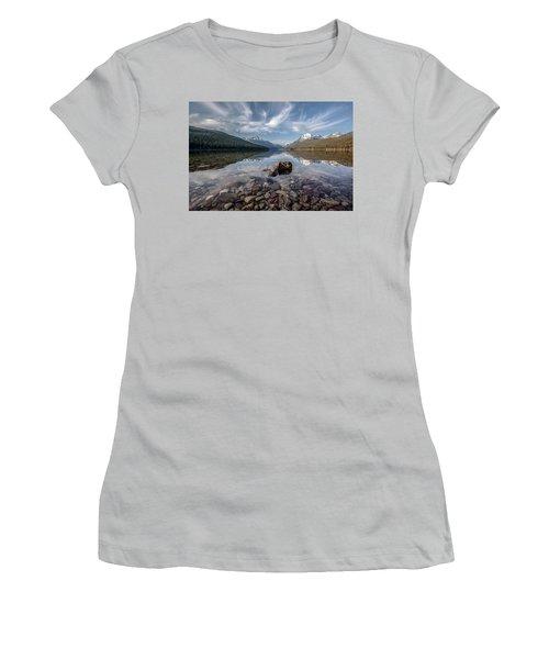 Bowman Lake Rocks Women's T-Shirt (Athletic Fit)