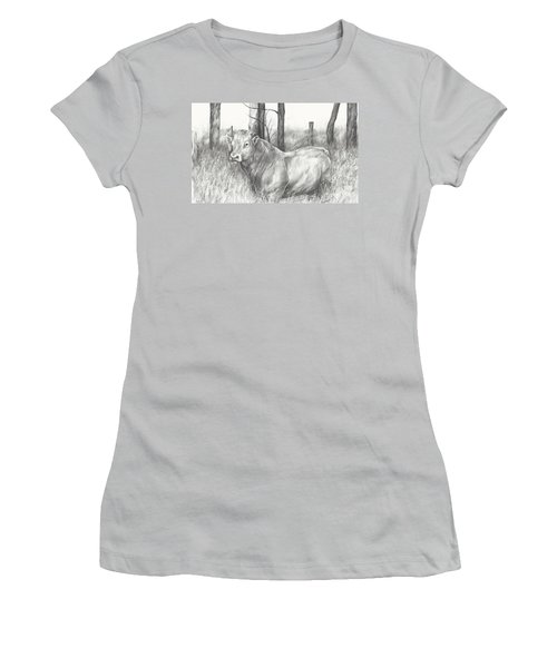 Women's T-Shirt (Junior Cut) featuring the drawing Breaker Study by Meagan  Visser