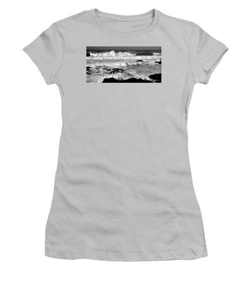 Breakers Women's T-Shirt (Junior Cut) by Nick Kloepping