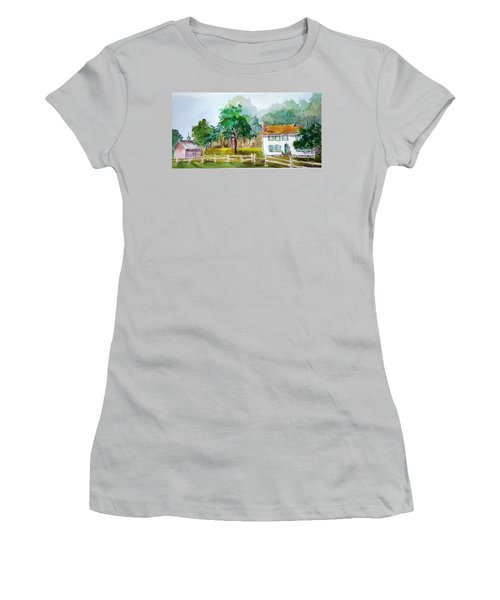 Brecknock Park Women's T-Shirt (Junior Cut) by Larry Hamilton