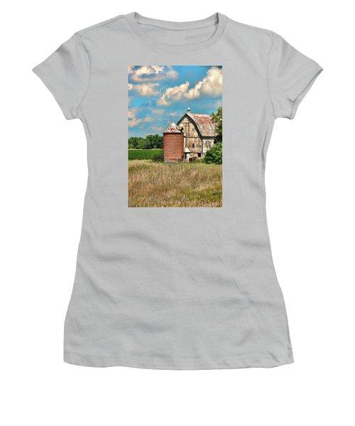 Brick Silo Women's T-Shirt (Junior Cut) by Trey Foerster
