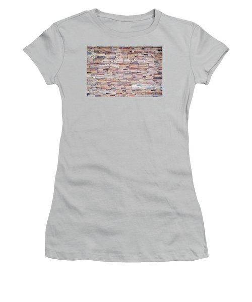 Women's T-Shirt (Junior Cut) featuring the photograph Brick Tiled Wall by John Williams
