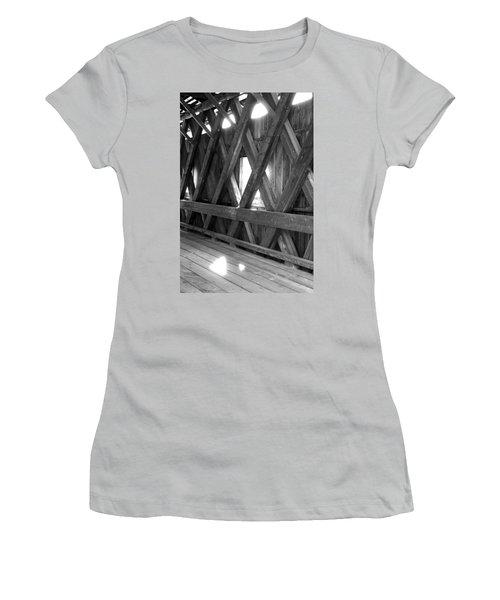 Women's T-Shirt (Junior Cut) featuring the photograph Bridge Glow by Greg Fortier