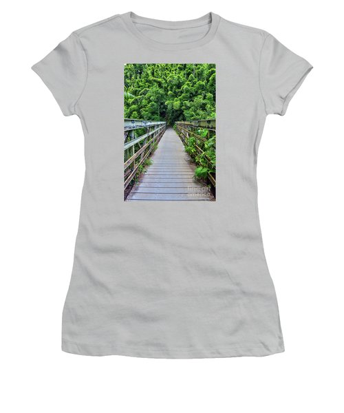 Bridge To Bamboo Forest Women's T-Shirt (Athletic Fit)