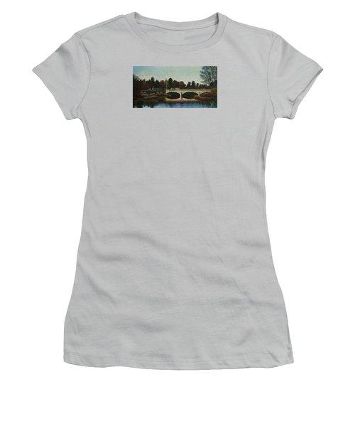 Bridges Of Forest Park Iv Women's T-Shirt (Junior Cut) by Michael Frank