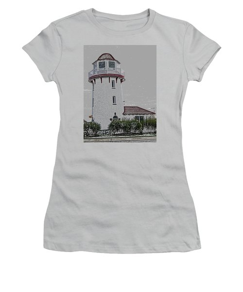Brigantine Lighthouse Women's T-Shirt (Junior Cut) by Trish Tritz