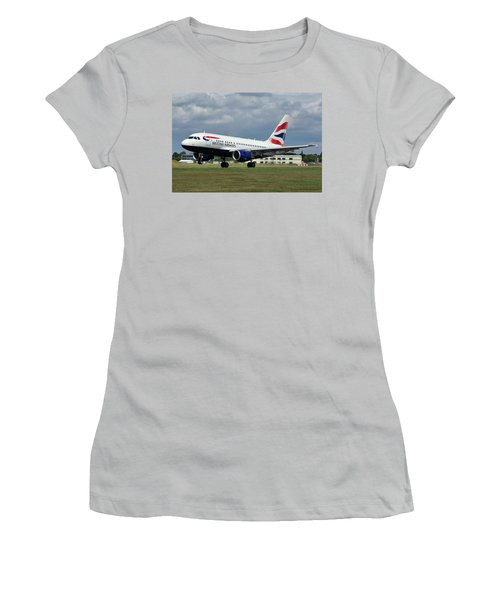 British Airways A318-112 G-eunb Women's T-Shirt (Athletic Fit)