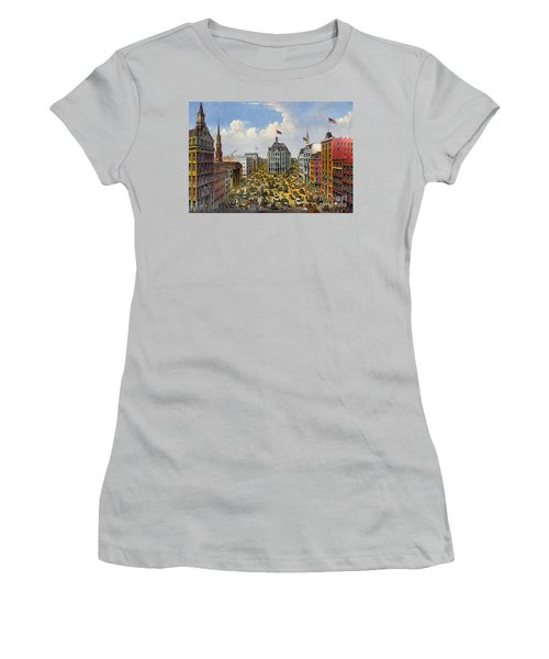 Broadway New York City 1875 Women's T-Shirt (Junior Cut) by Padre Art