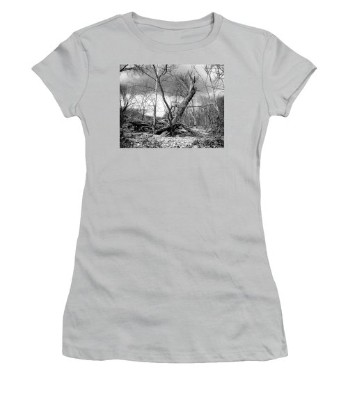 Women's T-Shirt (Athletic Fit) featuring the photograph Broken Tree by Alan Raasch