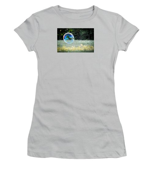 Women's T-Shirt (Junior Cut) featuring the photograph Bubble by Cheryl McClure